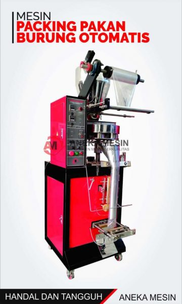 mesin pengemas pakan burunng