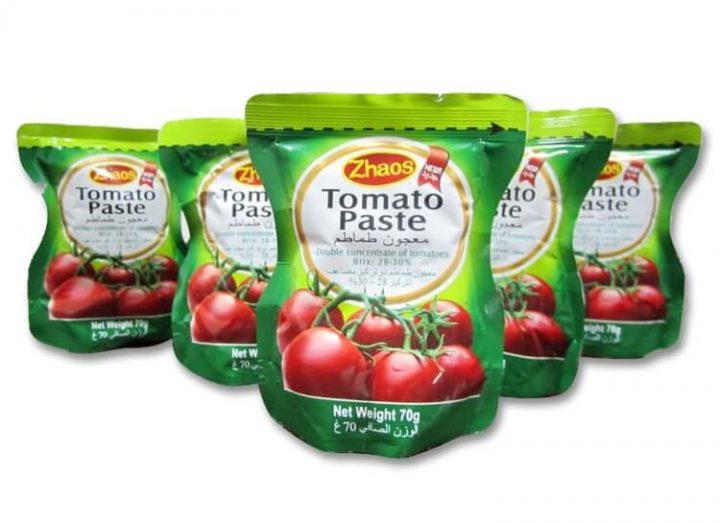 kemasan saus zhaos tomato paste