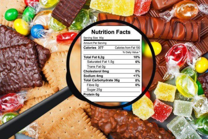 label gizi pada kemasan makanan